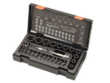 Metric 1/2in Drive Impact Socket & Bit Set, 41  Piece
